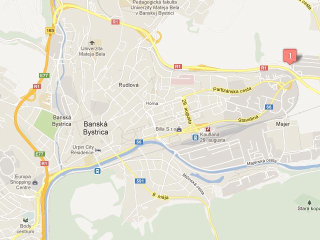 Banská Bystrica mapa