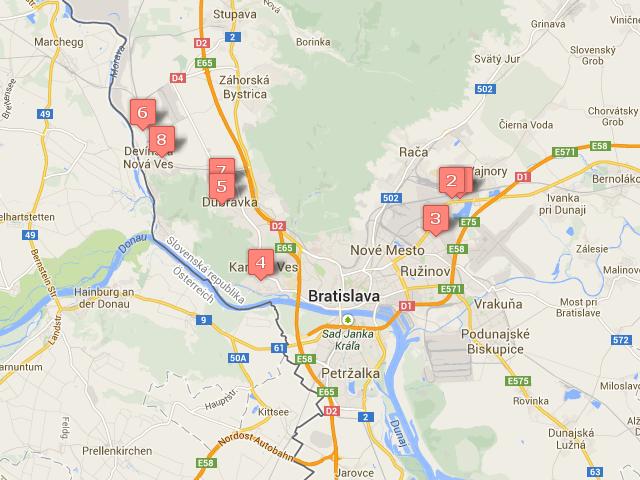 Bratislava mapa