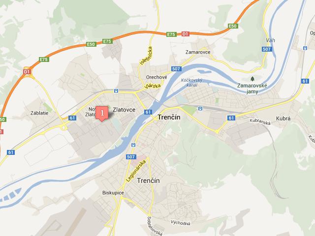 Trenčín mapa